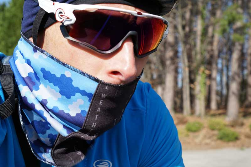 Weatherneck neck gaiter bandana with quick release magnetic closure for  cyclists and athletes 32f81bd9b3d