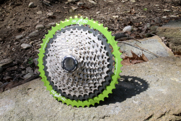 Oneup one up Shark 50t 50 tooth cassette adapter shimano xt wide range 1x-2