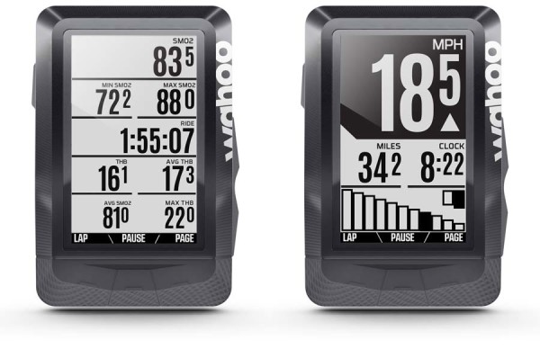 Wahoo ELMNT gps cycling computer displays Di2 and eTAP gear selection and muscle oxygenation data