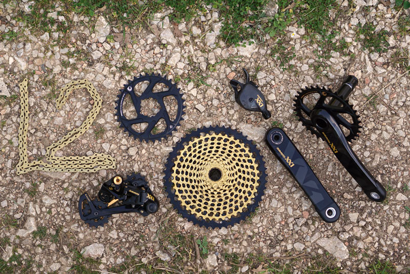 Grip Shifter Gold SRAM XX1 Eagle 12 Speed Groupset MTB Kit 4 piece
