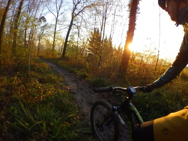 bikerumor pic of the day What a great morning! Cold, but sunny ride to work on the trails above Stuttgart, Germany