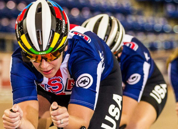 Sarah Hammer, 2016 World Champion, 2X Olympic Silver Medalist and Olympic Team Member. Photo from Kopin/Solos