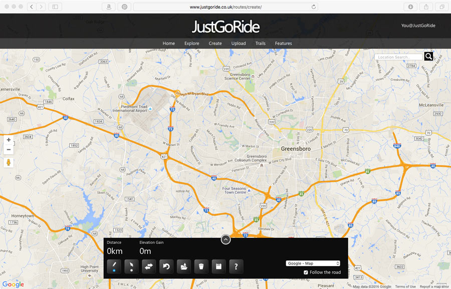 Found justgoride lets you create free gpx route files justgoride free gpx route map maker 1 gumiabroncs Image collections