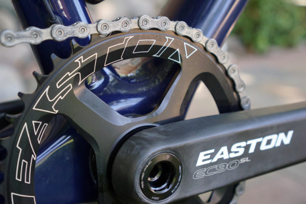 2017 Easton EC90 SL crankset with carbon fiber arms and cinch chainring mounting