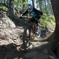 Trek Remedy, Steve Fisher shredding Whistler Bike Park