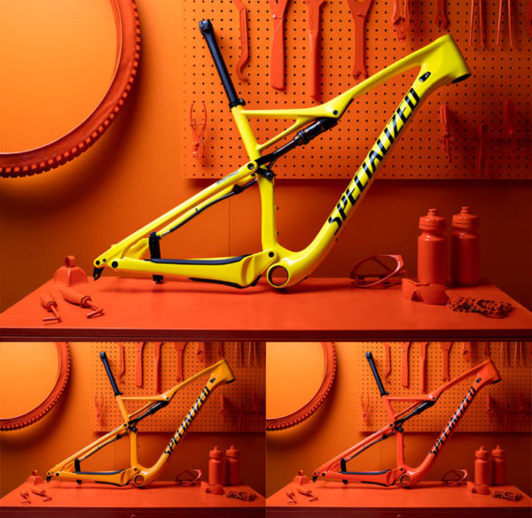 Specialized torch heat sensitive color changing bicycle paint on Epic FSR S-Works