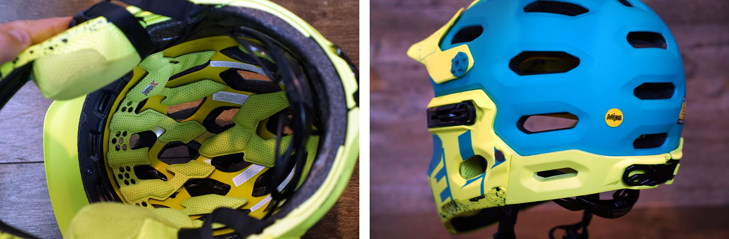 2017 Bell Super 3R convertible full face helmet with removable chin bar for enduro and freeride mountain bikes