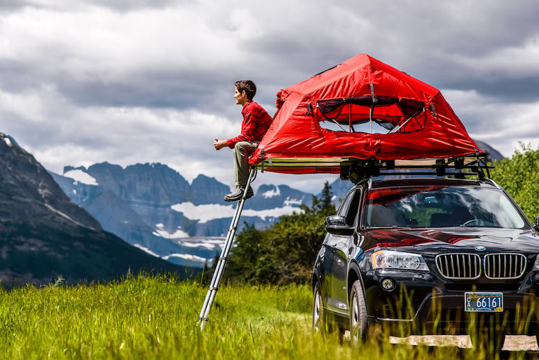 Tent On Top Of Vehicle : Yakima skyrise raises the roof on car top tent camping