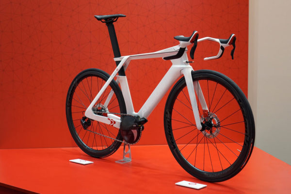 argon 18 FWD Alpha concept aero bike with integrated CDA drag detector