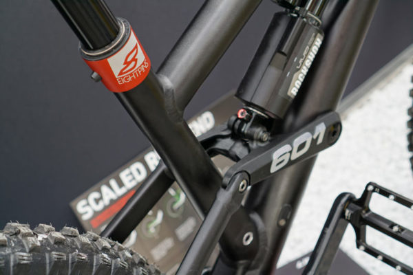 eightpins integrated dropper post inside seat tube