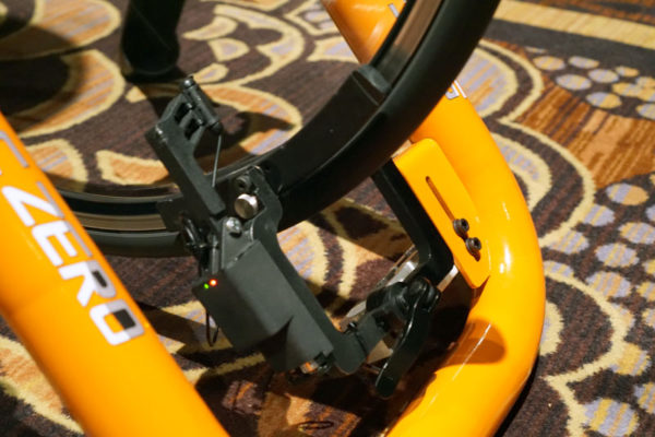 stac zero indoor cycling trainer that doesn't touch your wheel or tire