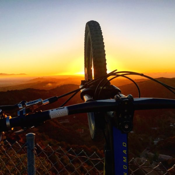 bikerumor pic of the day nike missile site mountain biking at sunrise, los angeles california