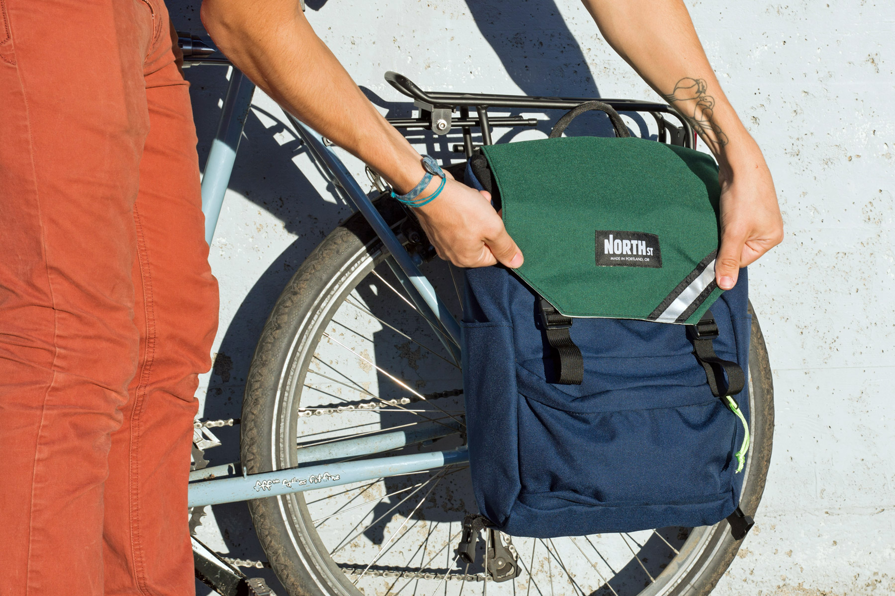 The Morrison, a convertible waterproof custom pannier/backpack ...