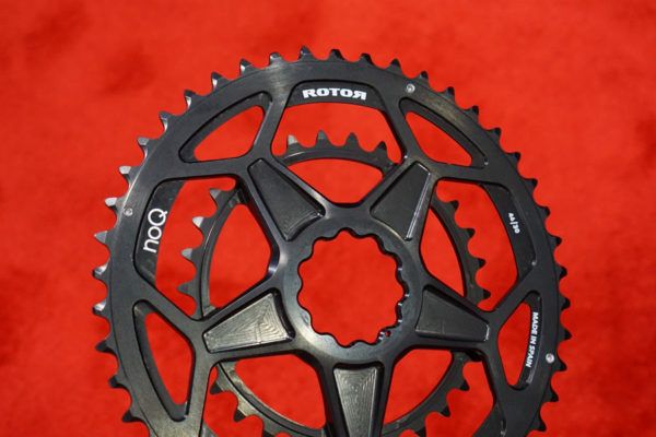rotor spidering one-piece 46-30 double chainring for gravel and cyclocross road bikes