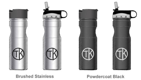A Stainless Steel Water Bottle On The Bike Travel Kuppe