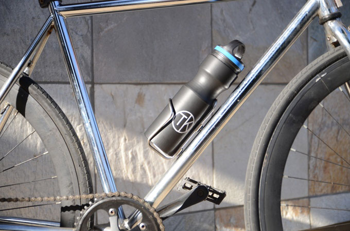 A Stainless Steel Water Bottle On The Bike Travel Kuppe Makes It