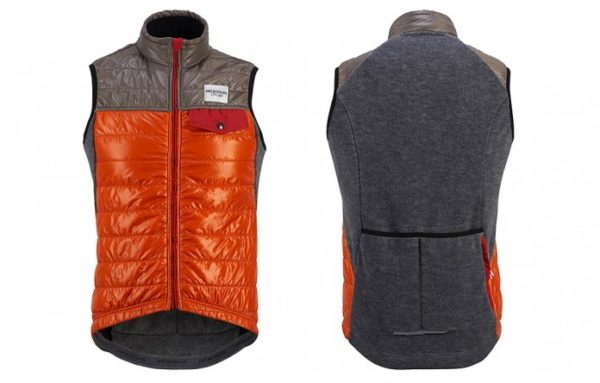 Cafe Du Cycliste Albertine gilet, front and back