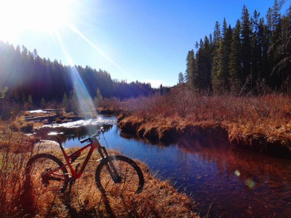 bikerumor pic of the day Taking in the view at Lower Seymour Lake in Southwest Montana mountain biking