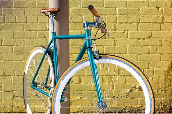 State Bicycle Co steel core line, blue and chrome
