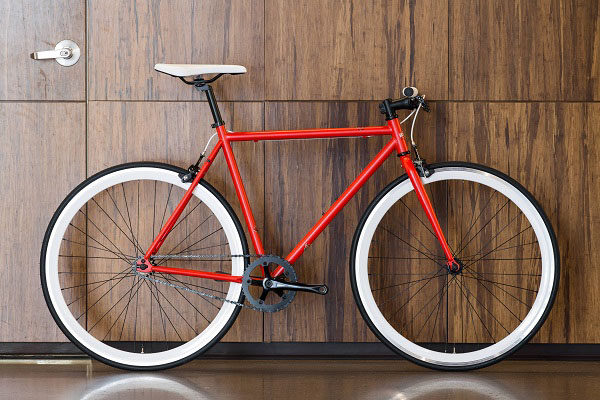State Bicycle Co steel core line, red