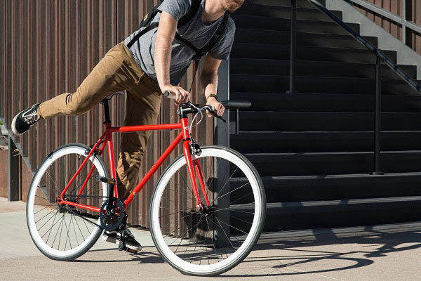 State Bicycle Co steel core line, rider