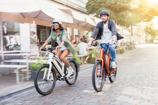 Stromer ST1 X, two riders
