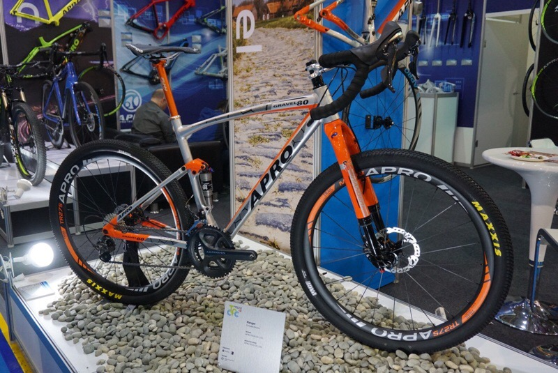 A-pro full suspension gravel road bike with X-Fusion Ranger inverted suspension fork