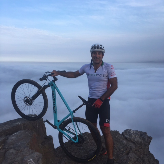 bikerumor pic of the day cloud covered Morro Solar in lima peru.