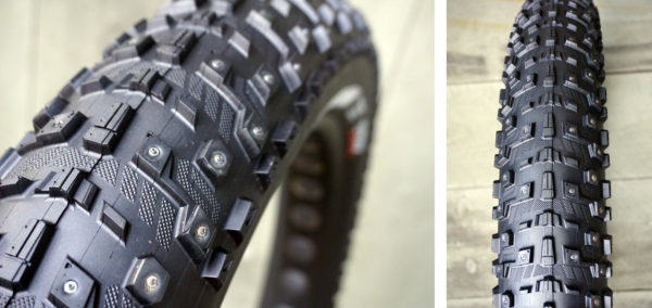 maxxis moosetrak winter studded fat bike tire for snow and ice