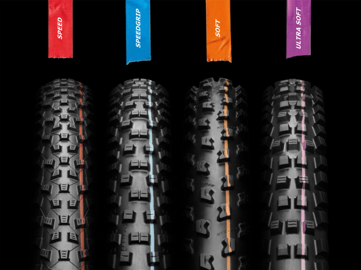 Schwalbe Stripes Color Into 4 Advanced Addix Rubber Compounds Across Entire MTB Tire Lineup