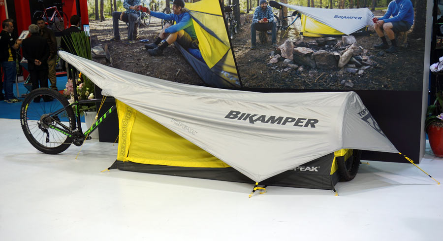 Topeak Bikamper Bikepacking Tent That Uses Bicycle As Its Frame