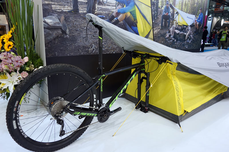 Topeak Bik&er bikepacking tent that uses bicycle as its frame & TPE17: Topeak gets into bikepacking tents; then Triu0027s out for ...