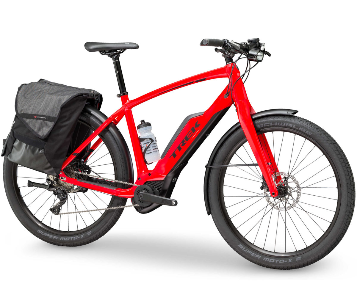 trek super commuter 8s speeds up the ride to work with. Black Bedroom Furniture Sets. Home Design Ideas
