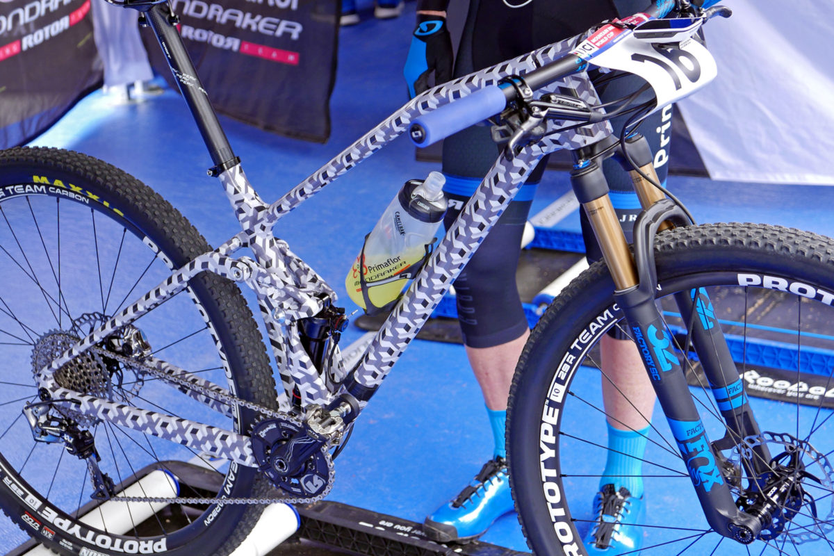 Spotted Mondraker Prototype Carbon Full Suspension Xc