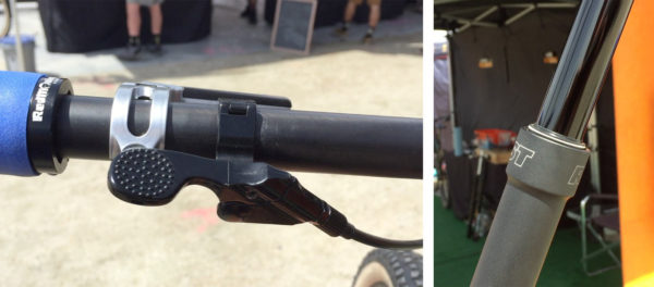 RST Elev8 dropper seatpost with needle bearings to prevent rotation
