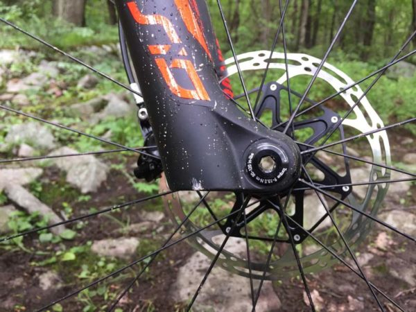 2018 Specialized Epic full suspension XC race mountain bike gets a custom offset Rockshox fork