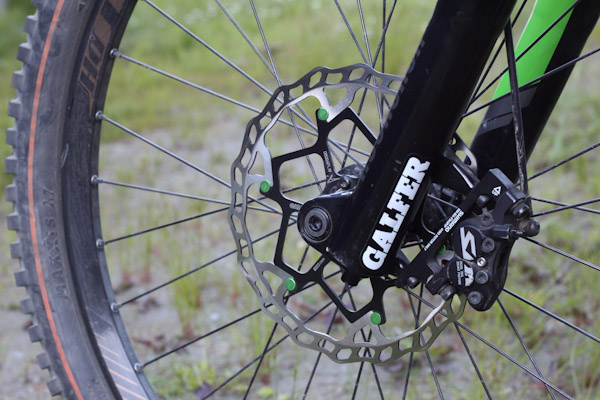 Galfer floating wave rotor and pads on bike
