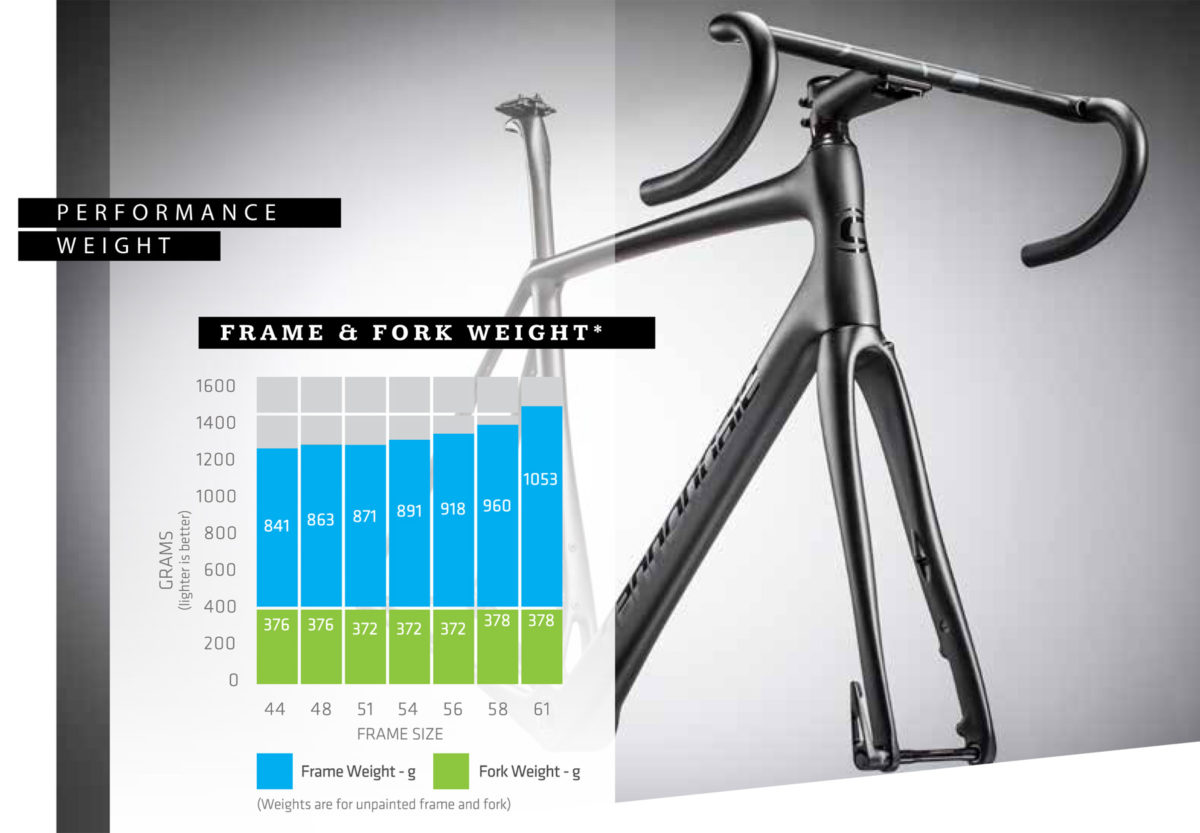 2018 Cannondale Synapse lightweight carbon endurance race road bike true endurance machinery frame and fork weight
