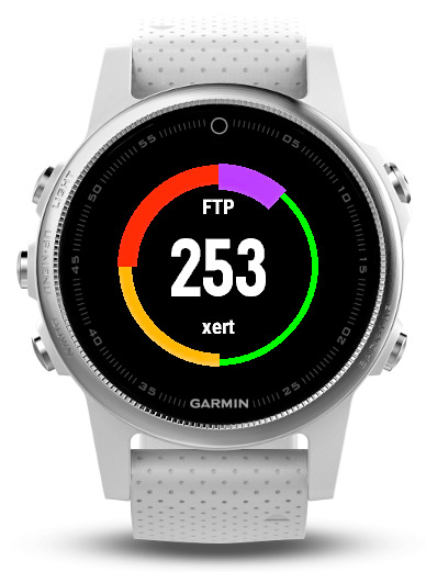 Baron Biosystems What's My FTP live Functional Threshold Power calculation Garmin Connect app Fenix wearable GPS watch