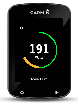 Baron Biosystems What's My FTP live Functional Threshold Power calculation Garmin Connect app step 2
