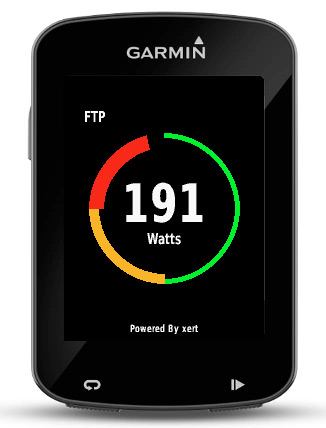 Baron Biosystems What's My FTP live Functional Threshold Power calculation Garmin Connect app step 3