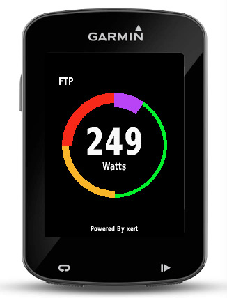 Baron Biosystems What's My FTP live Functional Threshold Power calculation Garmin Connect app step 4