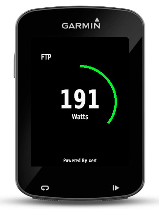 Baron Biosystems What's My FTP live Functional Threshold Power calculation Garmin Connect app step1