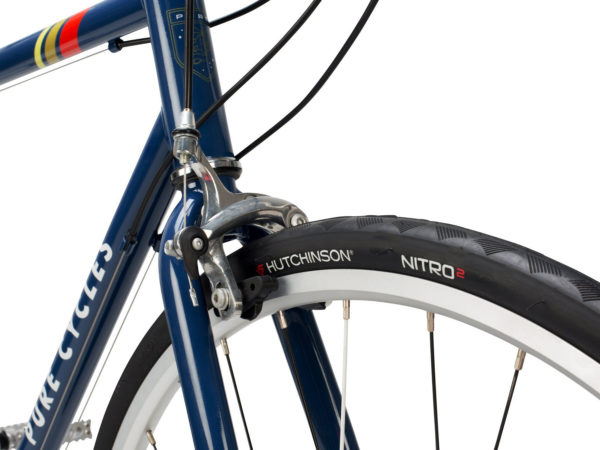Pure Cycles affordable chromoly steel road bike fork brake tire