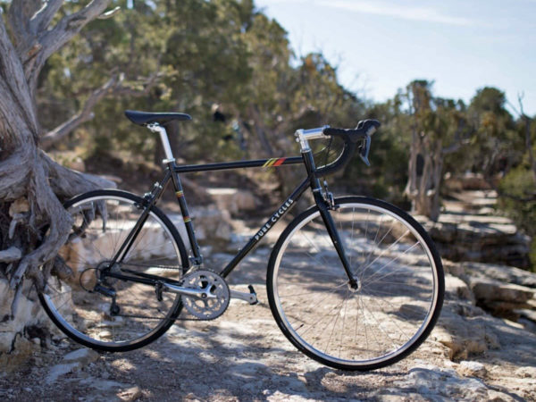 Pure Cycles affordable chromoly steel road bike outside