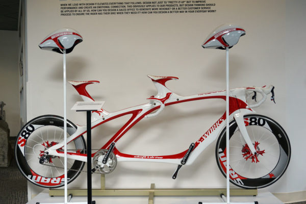 specialized concept bike museum with prototype Tandemonium TT tandem road bike by Robert Egger