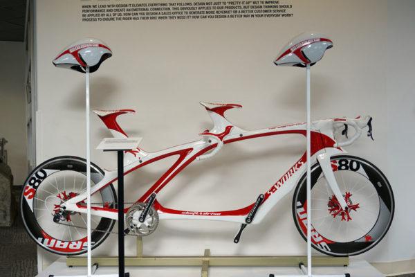 specialized concept bike museum with prototype Tandemonium TT tandem road bike by Robert Egger