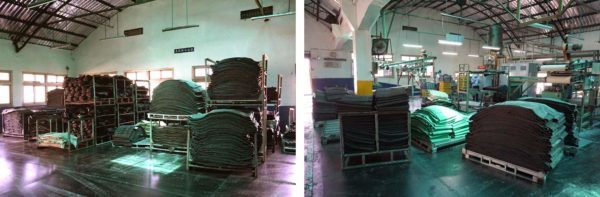 kenda tire factory tour - raw rubber arrives and is mixed with silica and carbon to create the proper color and durometer