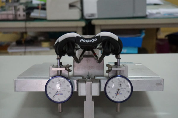 Prologo saddle factory tour shows testing and quality control