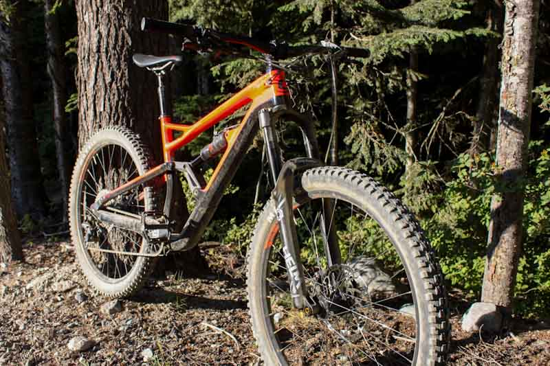 Cane Creek Helm Coil prototype, on Cannondale Jekyll